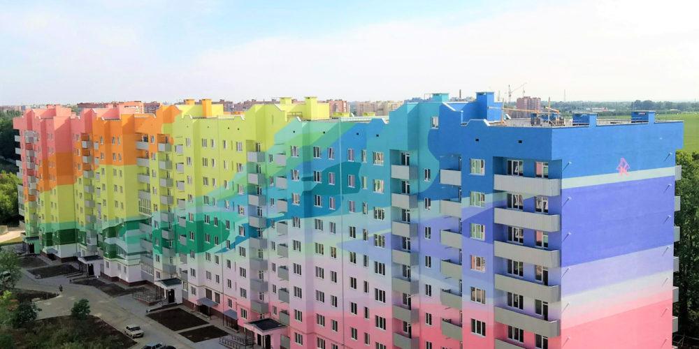 Фасад дома по ул. Перспективная 6, Россоенцы