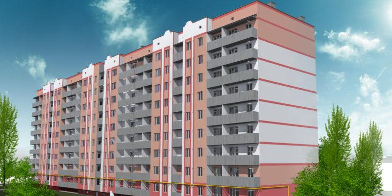 Проект фасада в микрорайоне Садовый