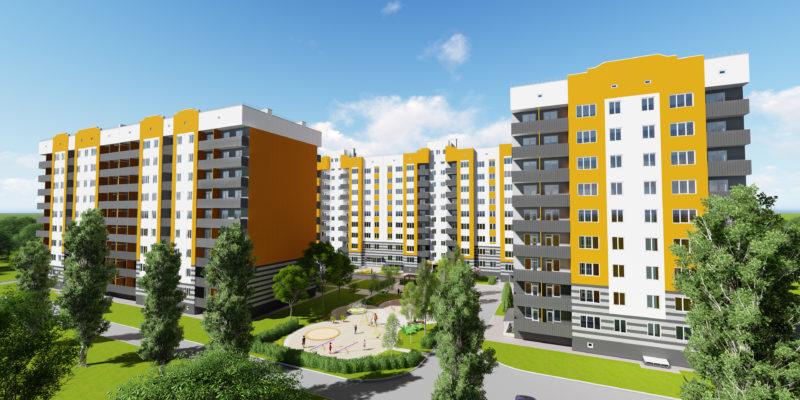 Загальний вигляд будинків Кременчуцька